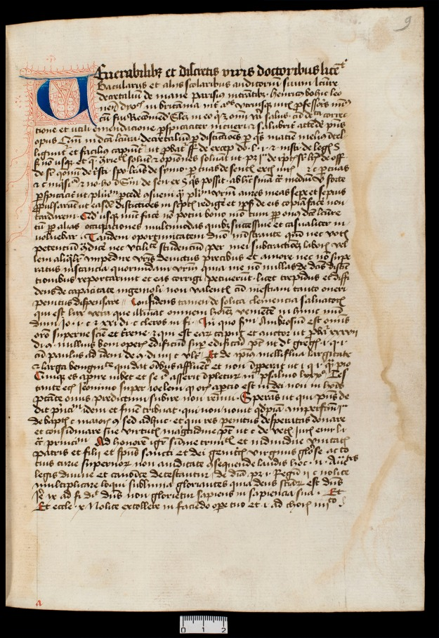 Utrecht, University Library, ms. 615, fol. 9r