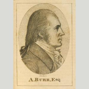 Engraving of Aaron Burr