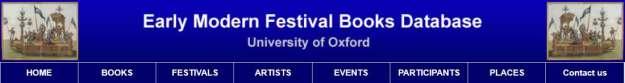 Header Early Modern Festival Books, University of Oxford